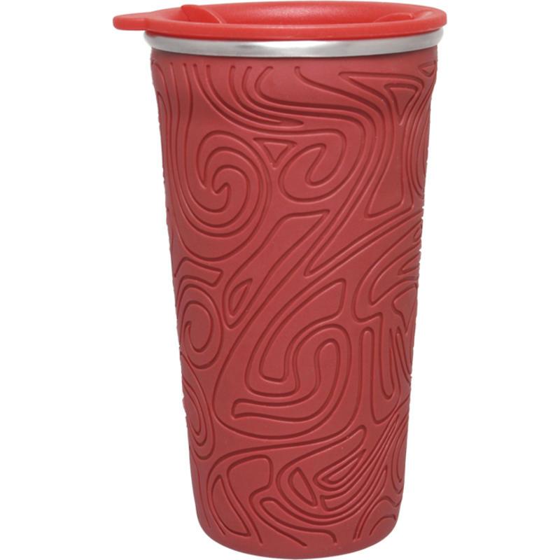 Gobelet Sof-t avec couvercle vissable Rouge