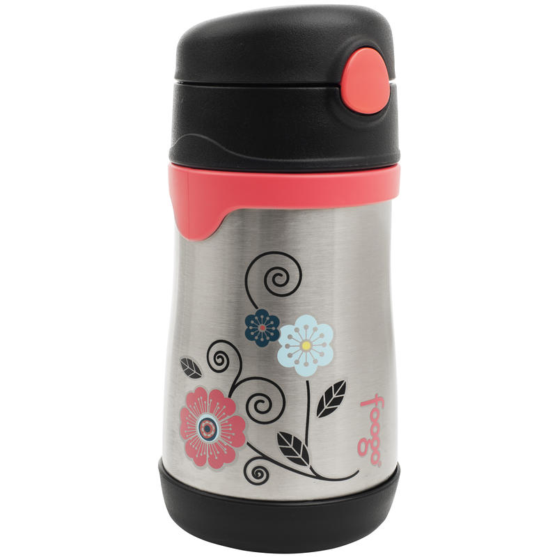Leak-Proof Insulated Bottle with Straw Pink