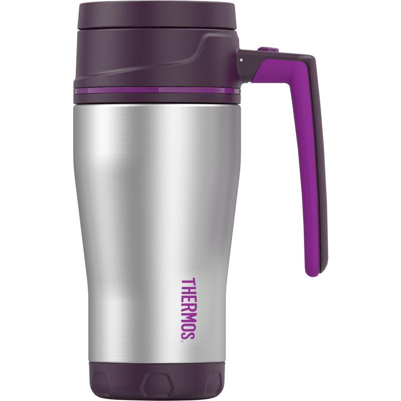 Element 5 Stainless Steel Travel Mug 470ml Purple/Magenta
