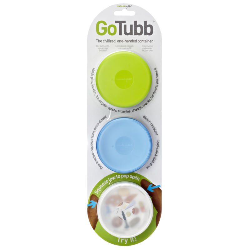 Contenant GoTubb 86 ml (ensemble de 3) Transparent/Vert/Bleu