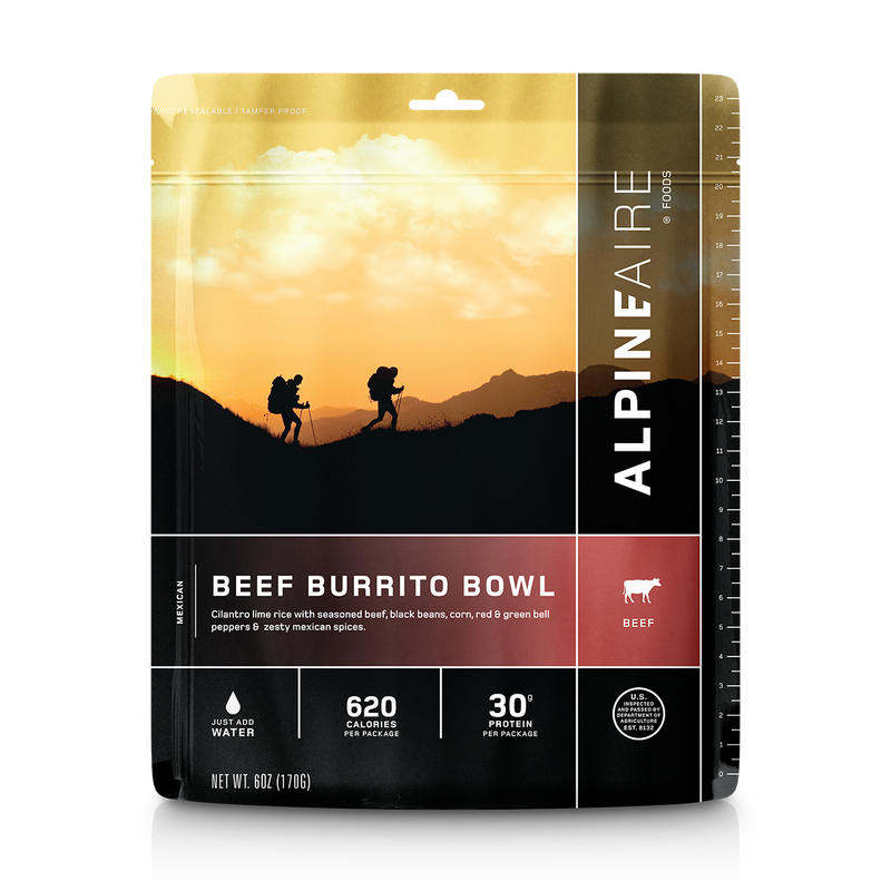 Rice Burrito Bowl Flavored with Beef
