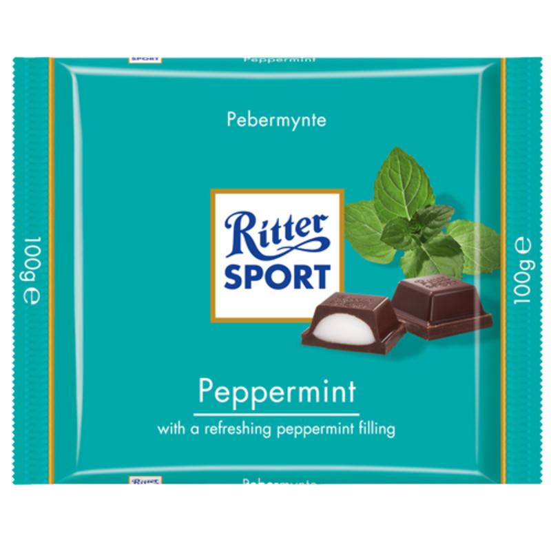 Tablette de chocolat à la menthe poivrée