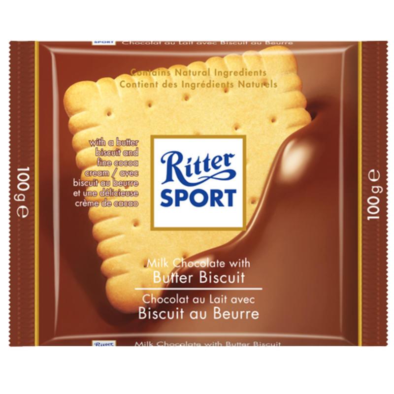 Tablette de chocolat au lait et biscuit au beurre