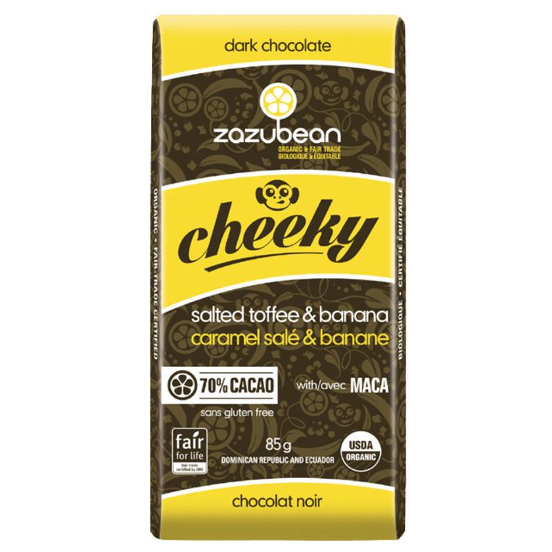 Tablette de chocolat Cheeky - Banane et caramel