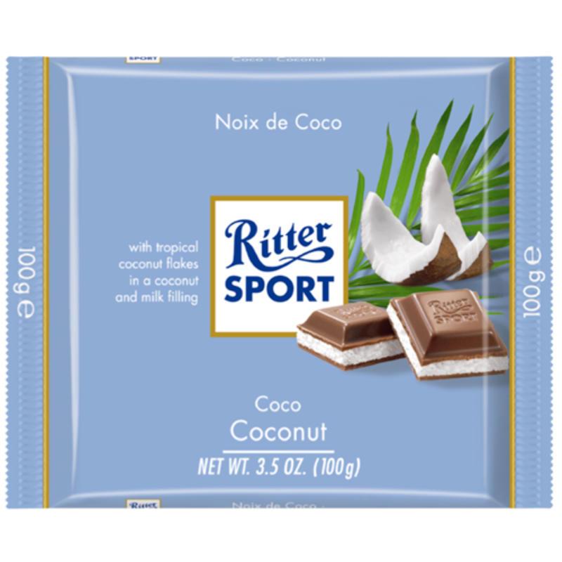 Tablette de chocolat à la noix de coco
