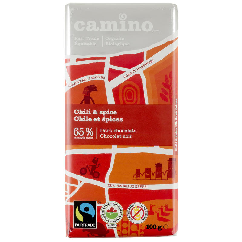 Organic Fair Trade Chili& Spice Dark Chocolate