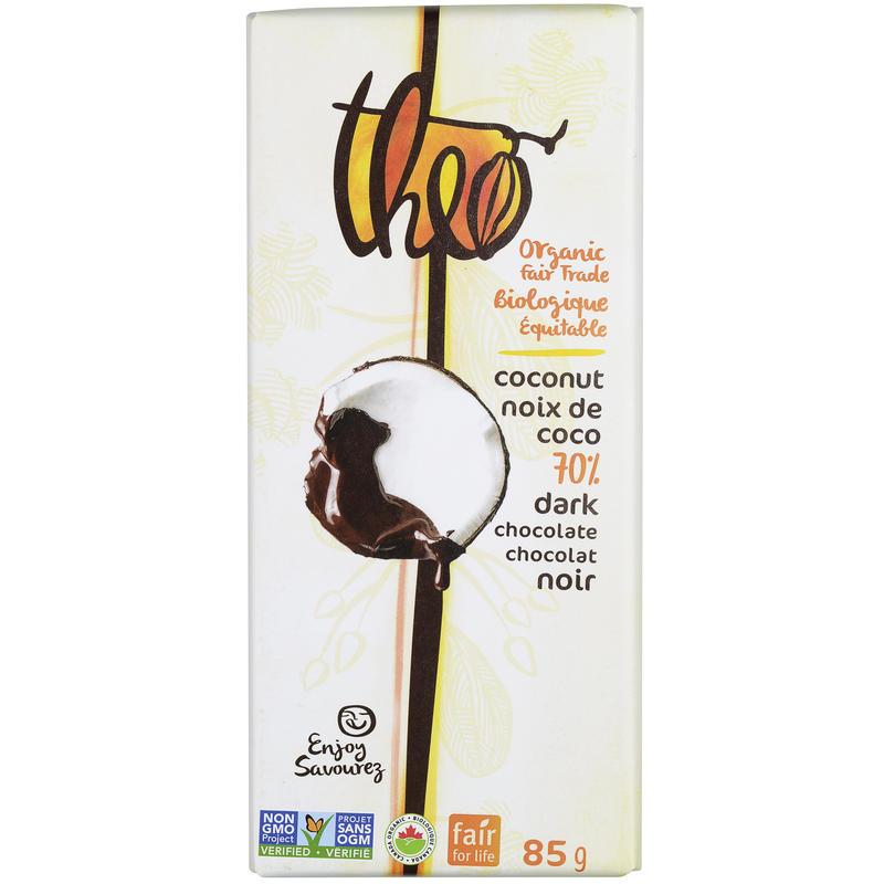 Tablette de chocolat bio à la noix de coco