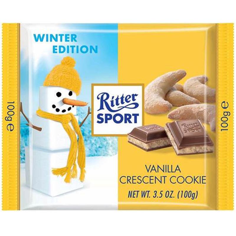 Tablette de chocolat à la vanille et aux biscuits