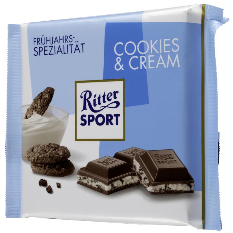 Tablette de crème chocolatée et biscuits