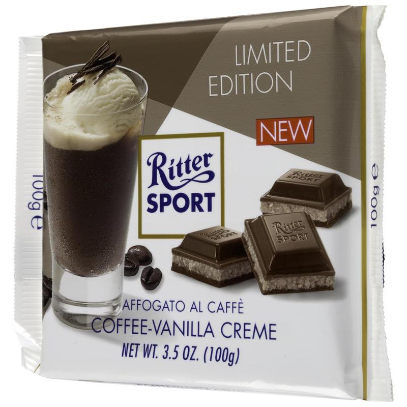 Tablette de chocolat à la vanille et Eiscafe