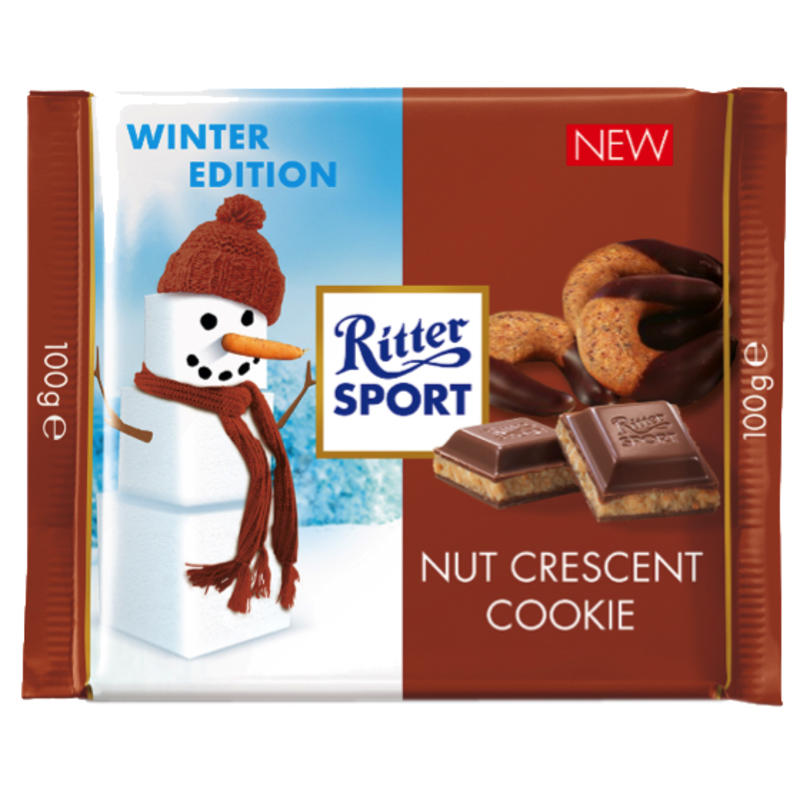 Nut Crescent Cookie Chocolate Bar