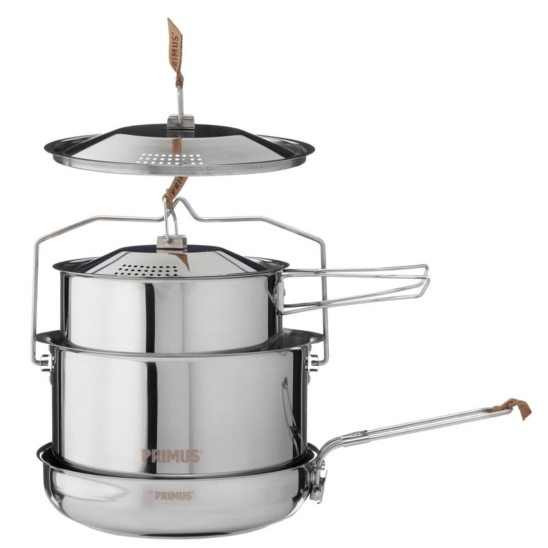 Campfire Cookset Large Stainless Steel