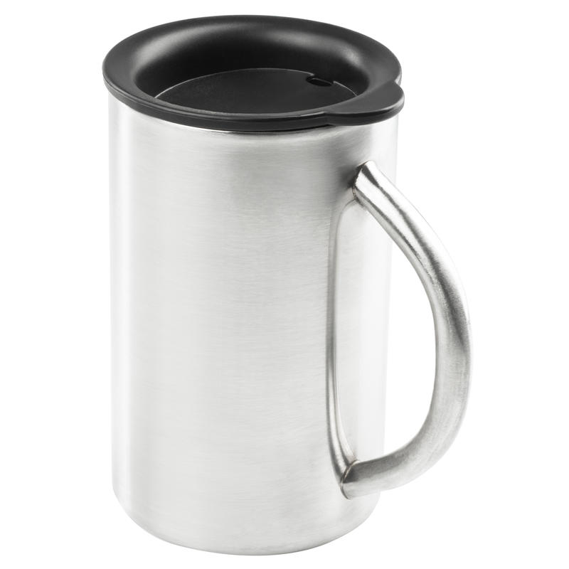Glacier Stainless Camp Cup 450ml Brushed Stainless