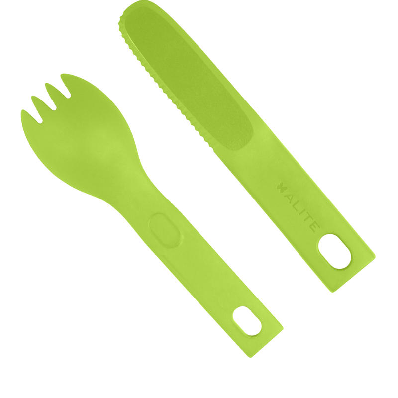 Cloverware Lite Utensil Set Lime Green