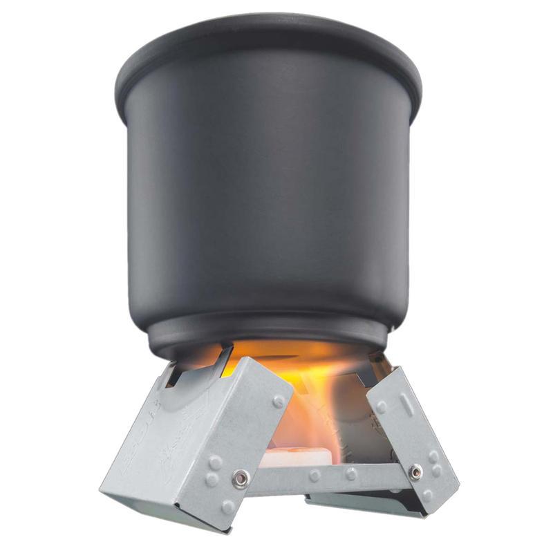 Réchaud pliant et tablettes de combustible
