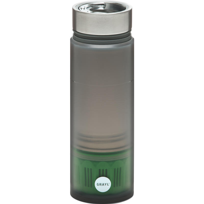 Bouteille de purification Quest avec filtre Trail Gris
