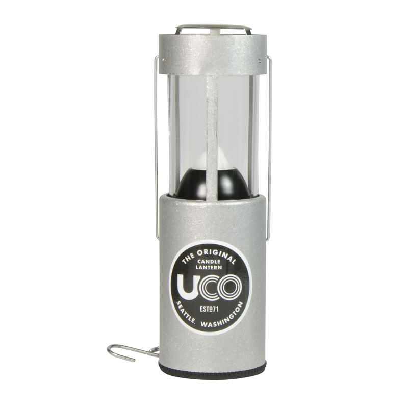 Aluminum Candle Lantern Silver