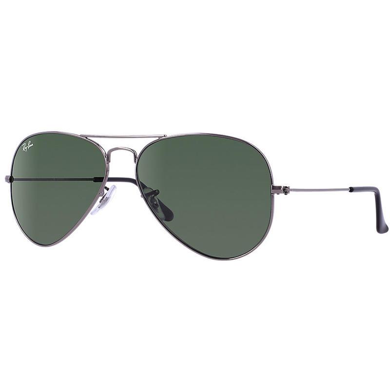 Lunettes de soleil Aviator 3025 Argent sombre/Vert-gris