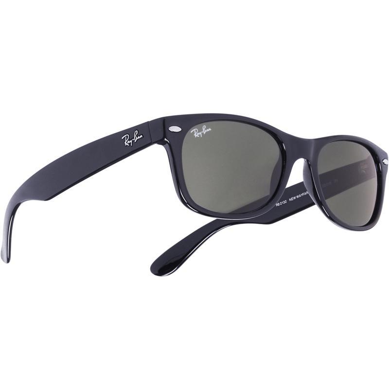 New Wayfarer Sunglasses Black/Crystal Green