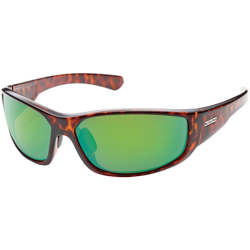 Pursuit Polarized Sunglasses Tortoise/Green Mirror