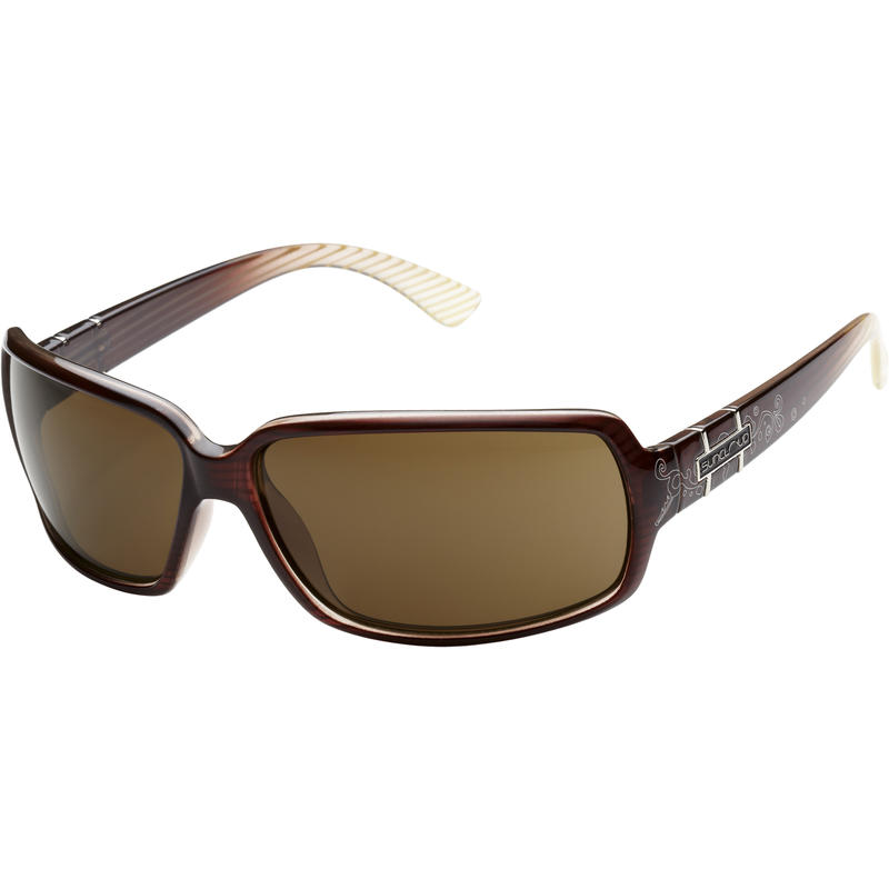 PopTown Polarized Brown Stripe Laser/Brown