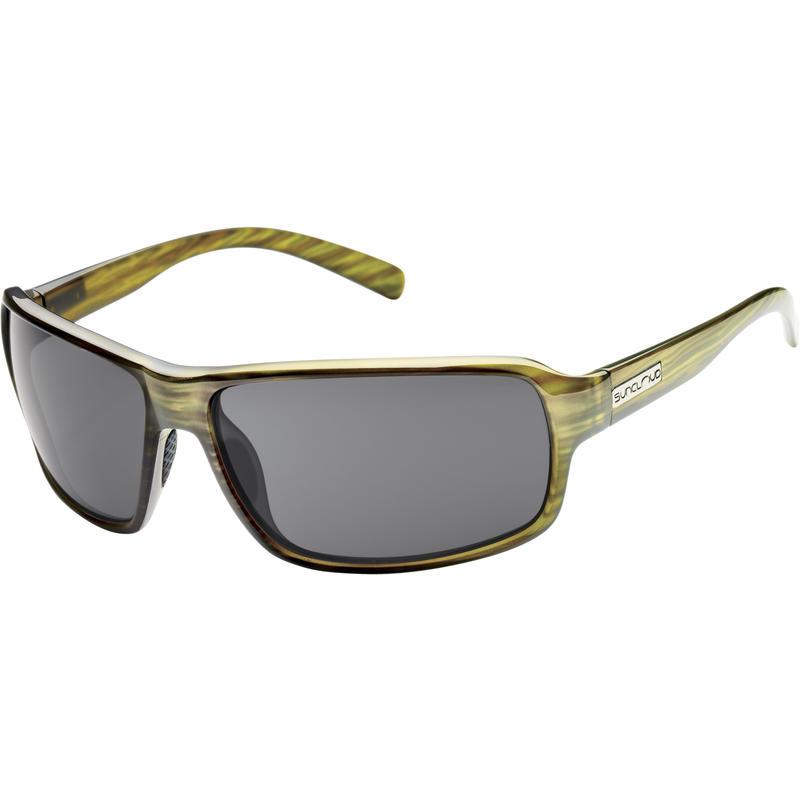 Tailgate Polarized Sunglasses Green Stripe/Grey