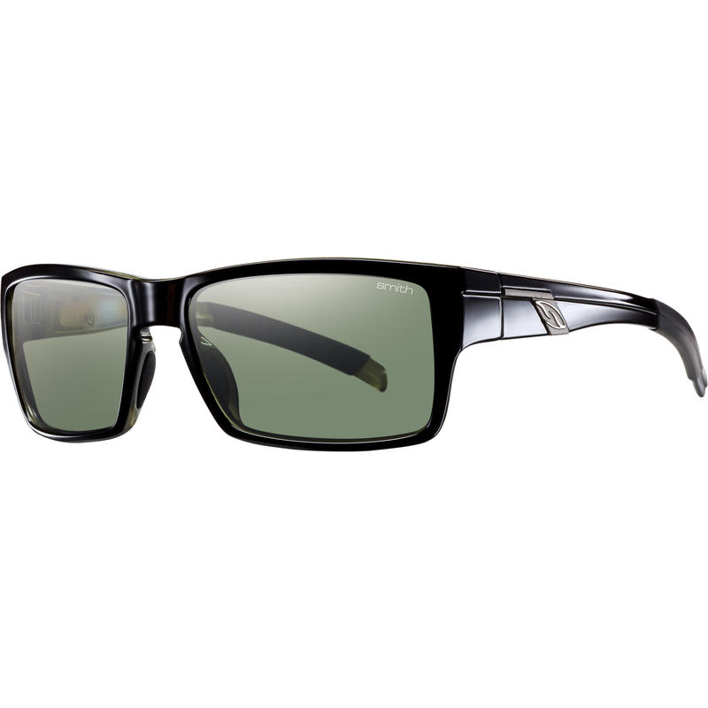 Outlier Polarized Sunglasses Black/Polarized Grey Green