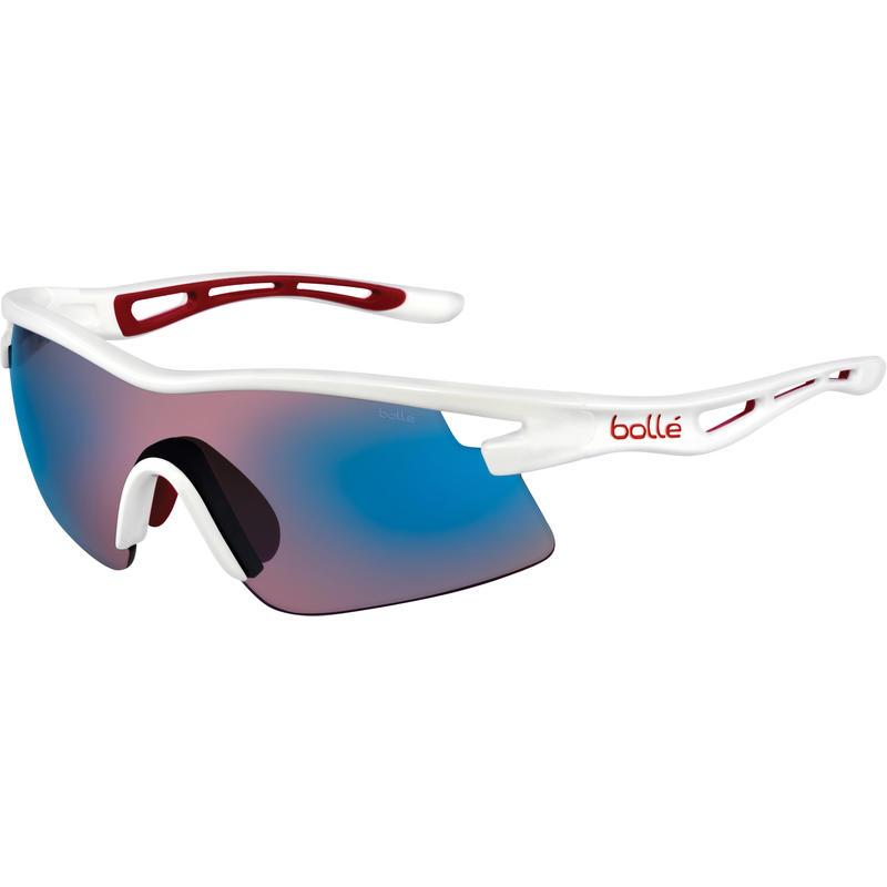 Vortex Sunglasses Shiny White/Rose Blue