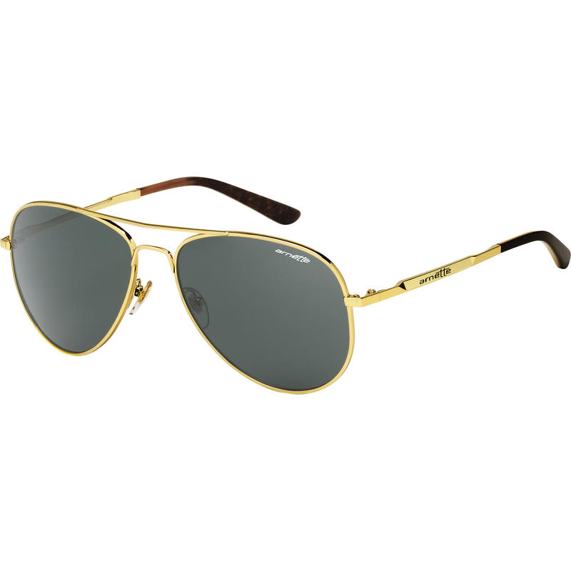 Trooper Sunglasses Polished Gold/Grey-Green
