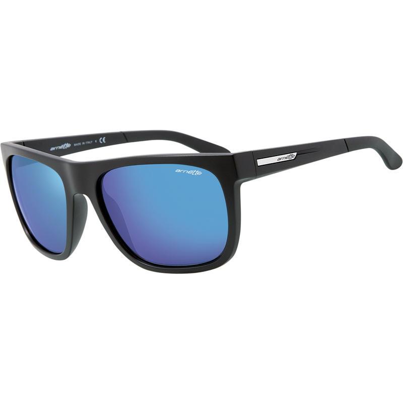 Fire Drill Sunglasses Matte Black/Blue Mirror