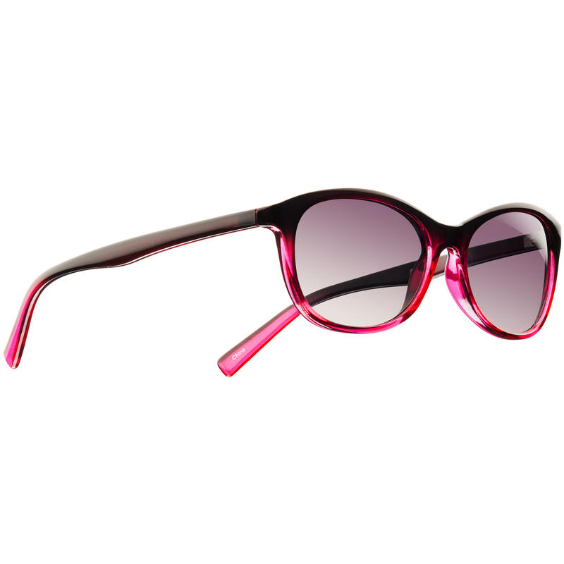Bisous Sunglasses Red Fade/Grey Gradient