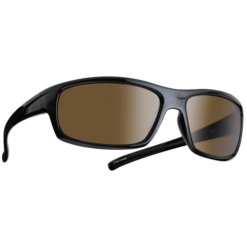 Border Sunglasses Shiny Black/Brown