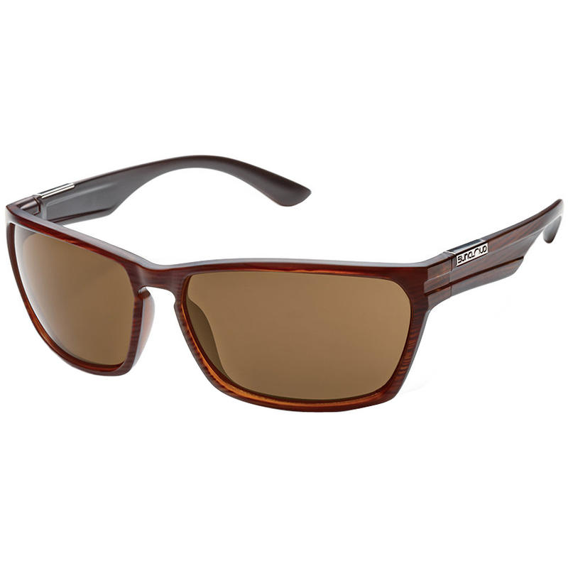Cutout Polarized Sunglasses Burnished Brown/Brown