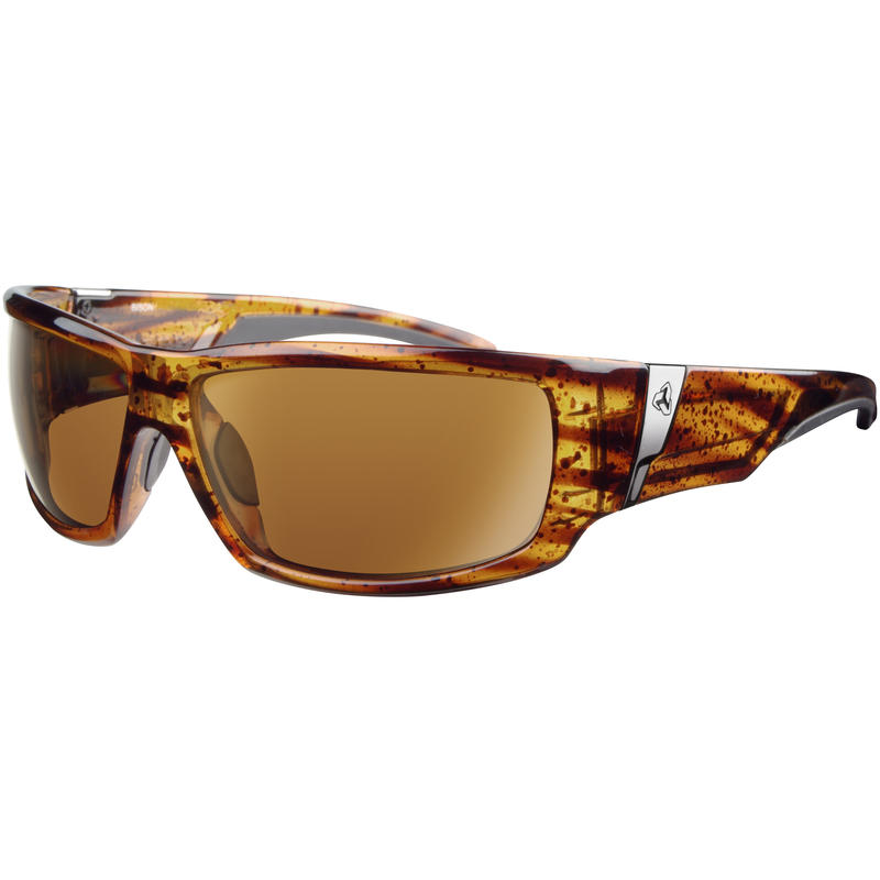 Bison Polarized Sunglasses Demi/Brown Gold Flash