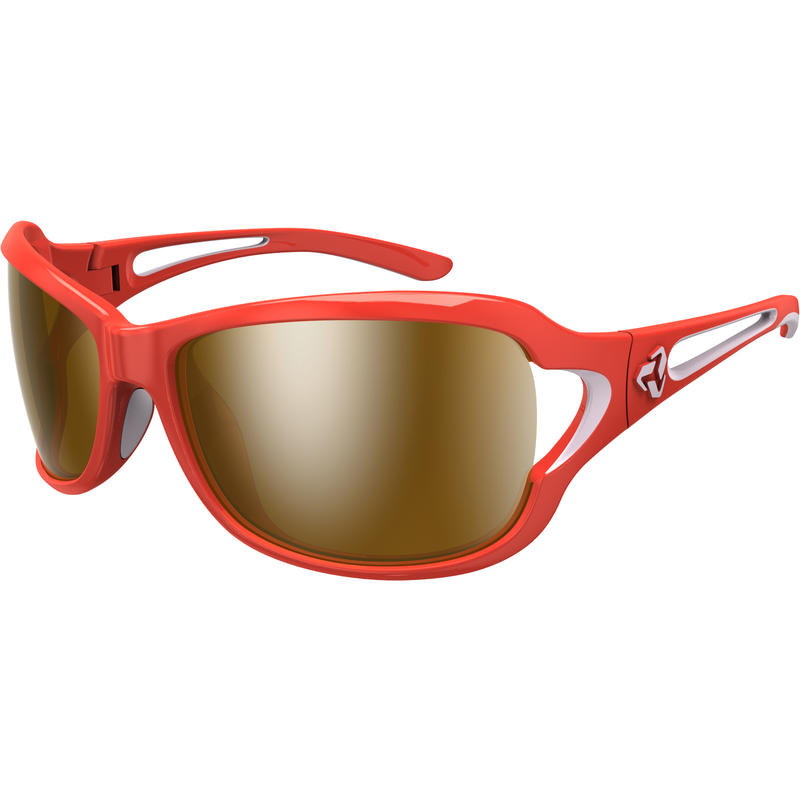 Coco Sunglasses Red Pink/Brown w/Toric Silver Flash Mirror