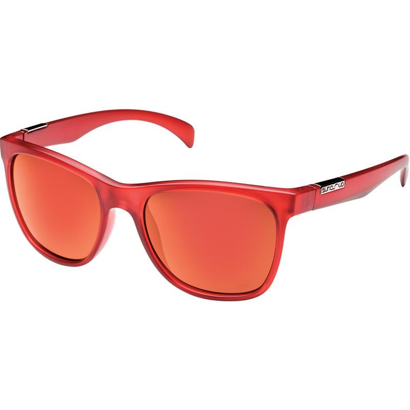 Lunettes de soleil Doubletake Rouge mat/Gris polarisé/Miroir rouge