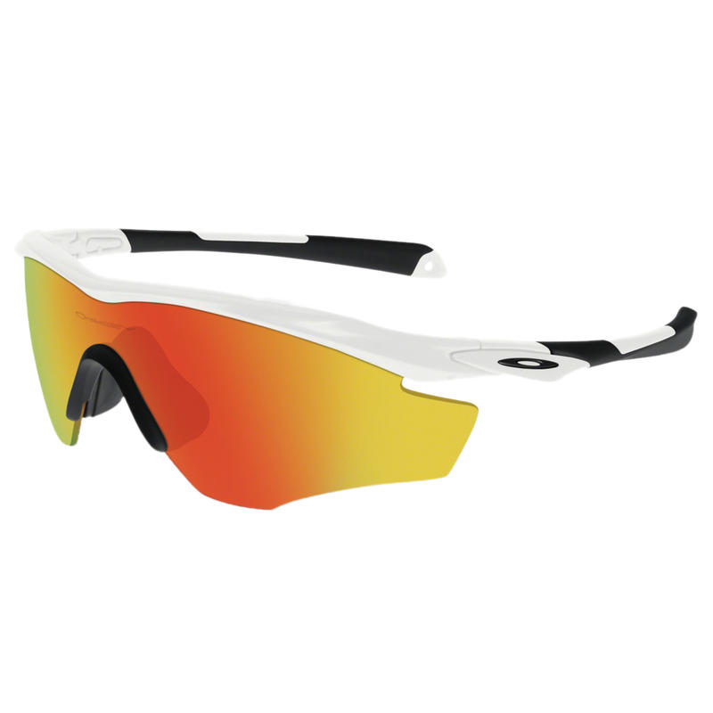 M2 XL Sunglasses Polished White/Fire Iridium