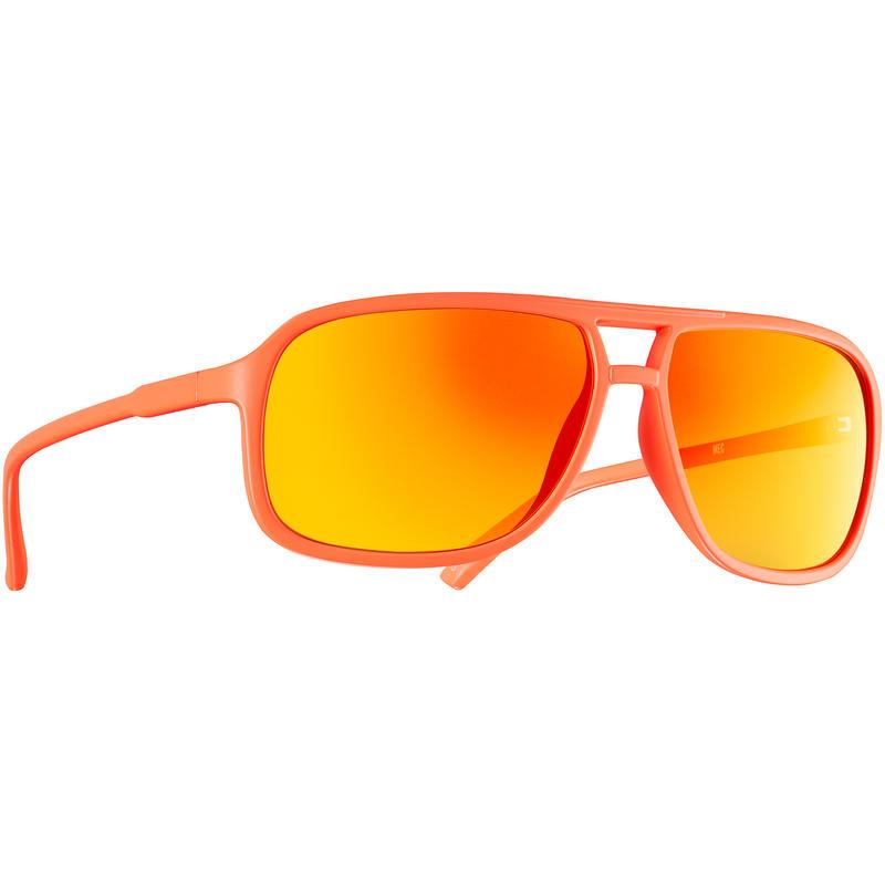 Arlo Sunglasses Matte Neon Orange/Grey w/Orange Revo