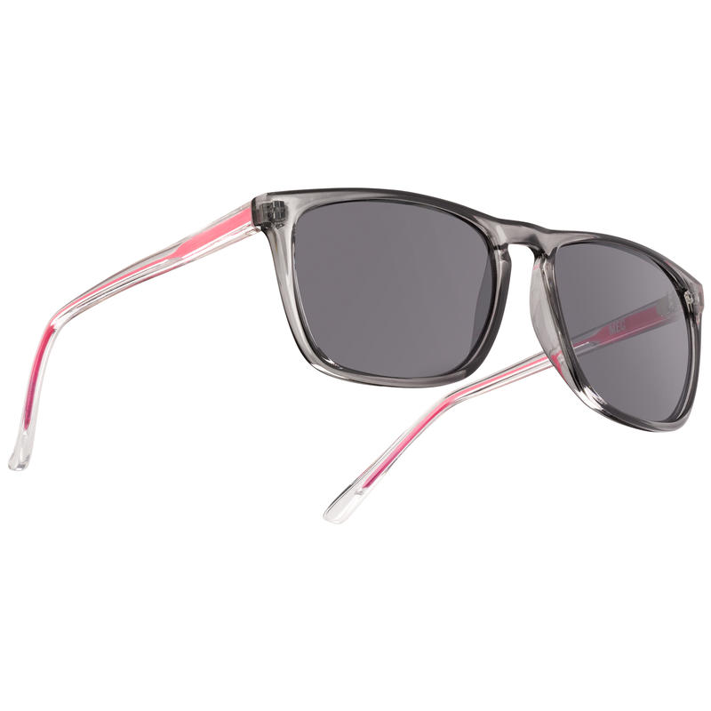 Boomer Sunglasses Shiny Crystal Grey/Grey w/Silver Flash