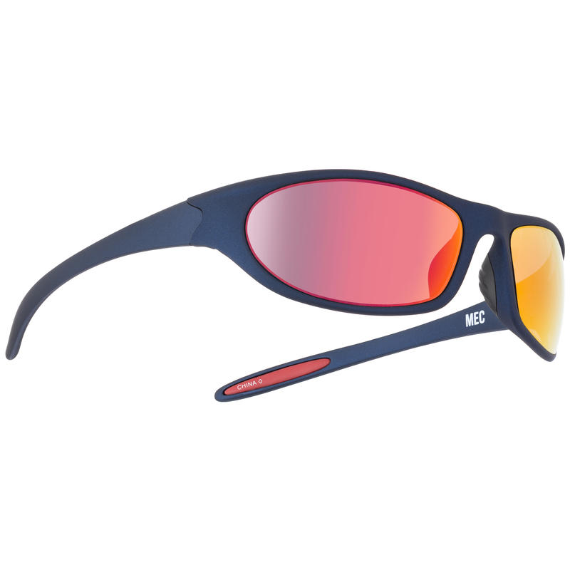 Hyper Sunglasses Soft Touch Metallic Navy/Grey w/Red Revo