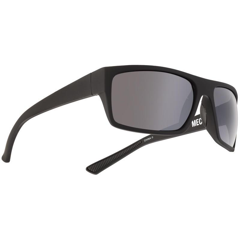 Topline Sunglasses Soft Touch Black/Grey w/Silver Flash Mirror