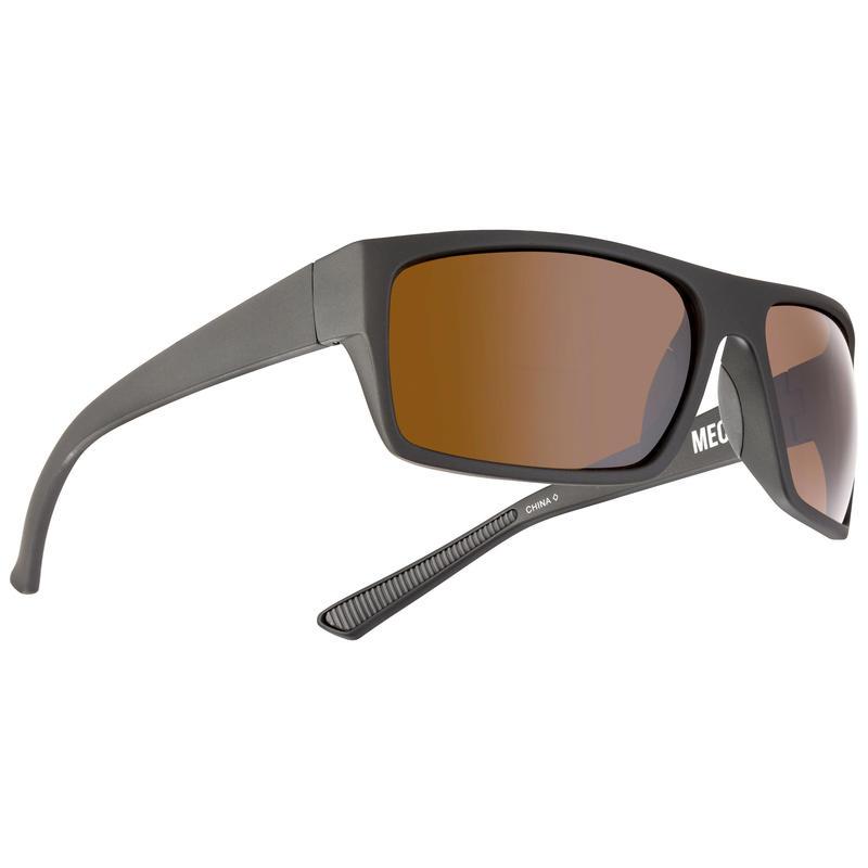 Topline Sunglasses Soft Touch Metallic Grey/Brown w/Silver Flash
