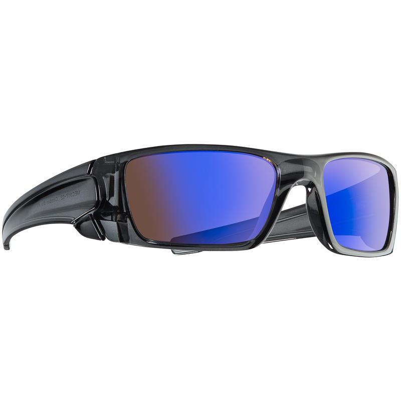 Climber Sunglasses Crystal Grey/Brown w/Blue Revo