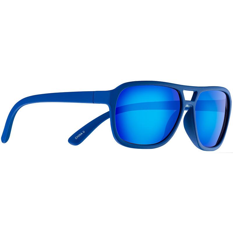 Half Pint Sunglasses Soft Touch Blue/Brown w/Blue Revo