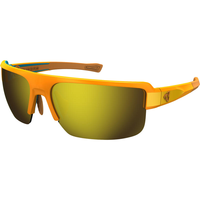 Seventh Sunglasses Orange/Brown w/Yellow Flash Mirror