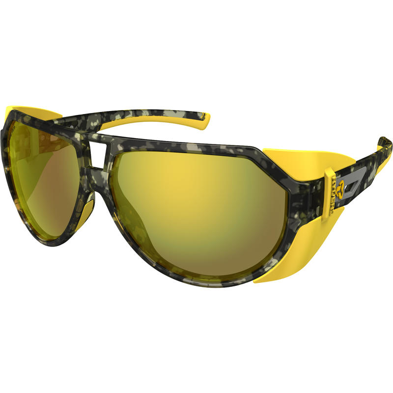 Tsuga Sunglasses Camo/Brown w/Yellow Flash Mirror