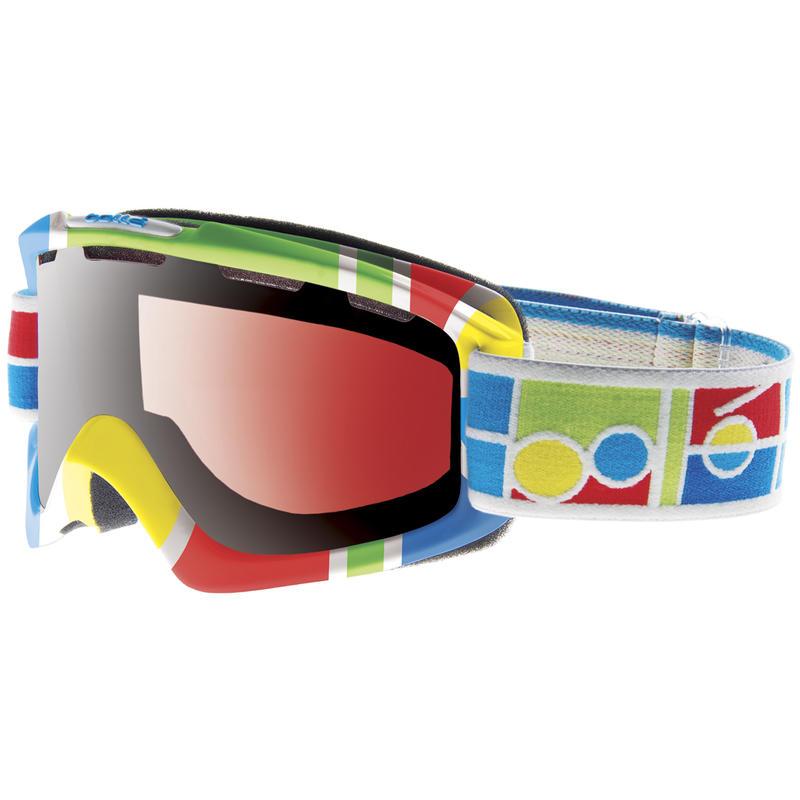 Lunettes de ski Nova Blocs de logo/Vermillon