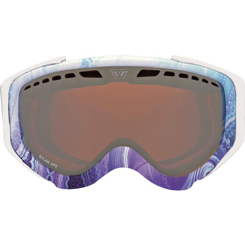 Lunettes de ski Dylan AFD Bleu marin/Miroir or