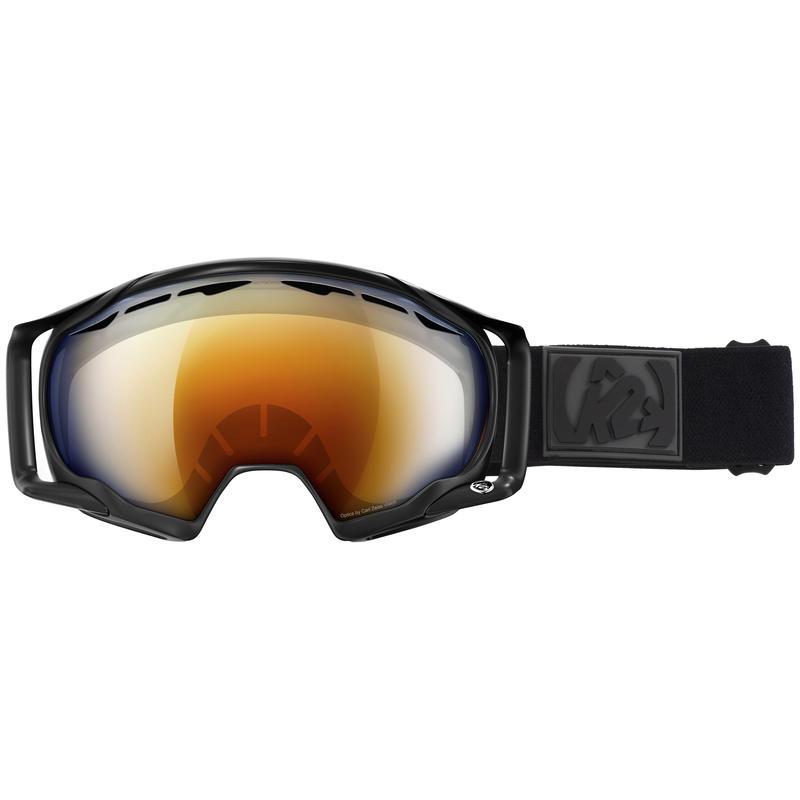 Lunettes de ski Photokinetic Noir mat/Miroir bleu orange brûlé