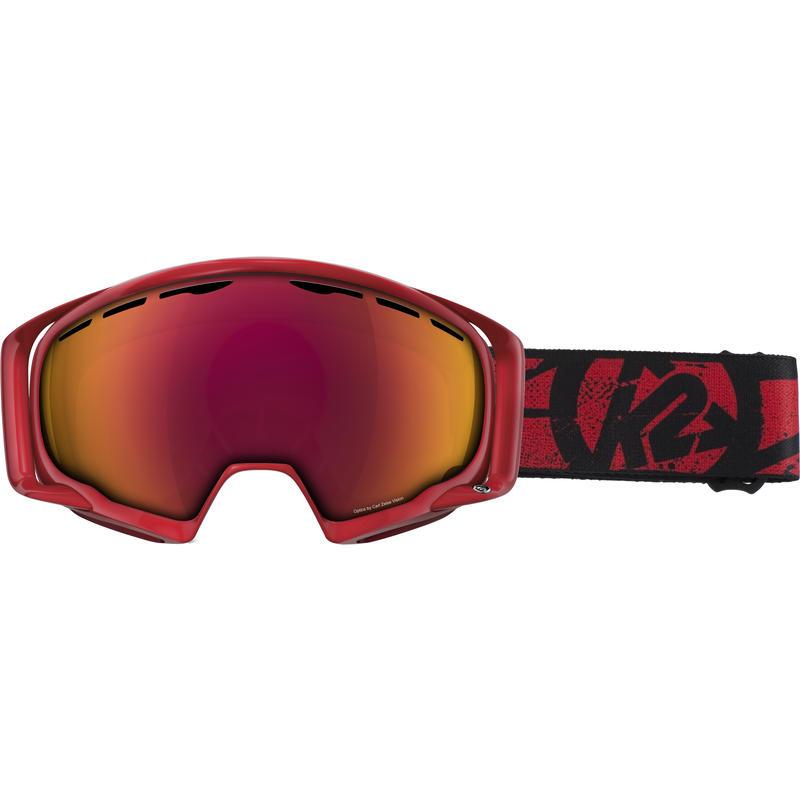 Lunettes de ski Photophase Rouge/Miroir Tripic rouge standard gris